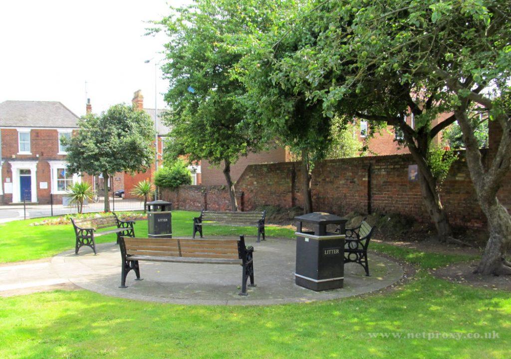 Jubilee Garden on corner of Railway Street & New Walkergate, Beverley